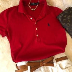 Polo brushed knit polo